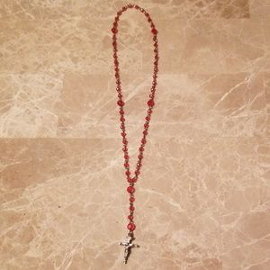 Jewelry Rosary (pink beads)